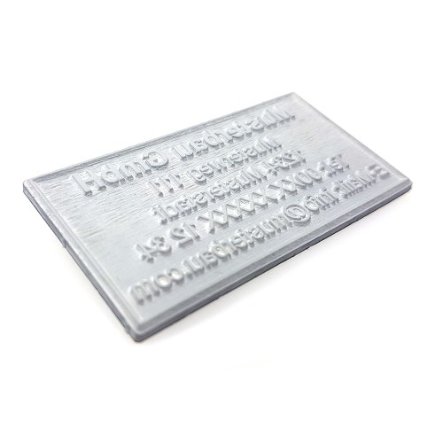 Replacement text plate Trodat Printy 4933 (incl. ink pad 6/4933)