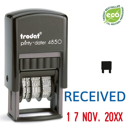 Trodat date stamp 4850/L - RECEIVED