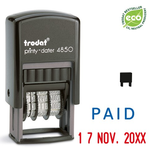 Trodat date stamp 4850/L - PAID