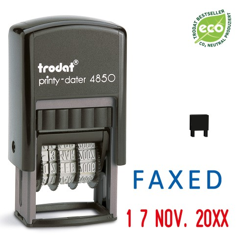Trodat date stamp 4850/L - FAXED